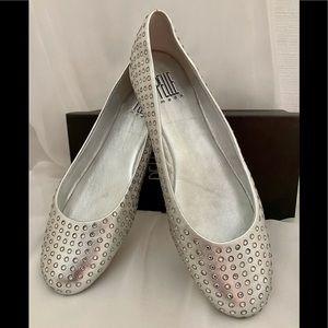 PELLE Moda Glyn Metallic Leather Ballet Flat